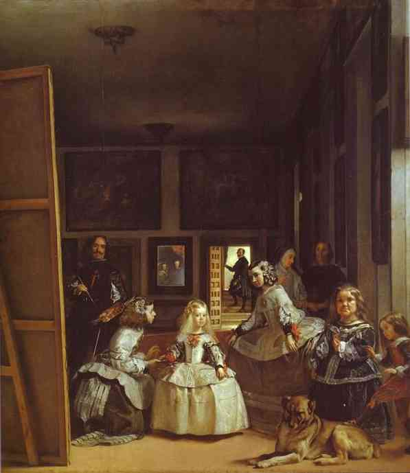 Las Meninas (The Maids of Honor) or the Royal Family, Oil by Diego Velazquez (1599-1660, Spain)