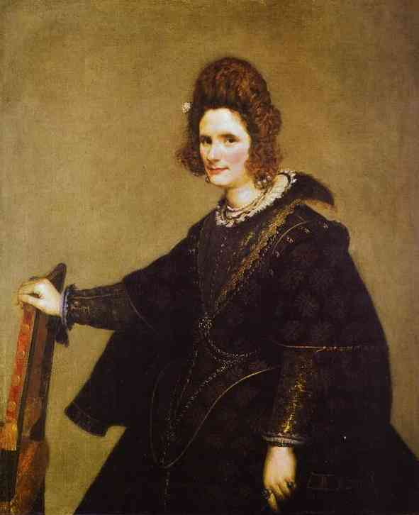 Portrait of a Lady, Oil On Canvas by Diego Velazquez (1599-1660, Spain)