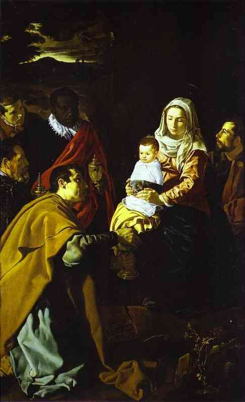 The Adoration of the Magi, Oil by Diego Velazquez (1599-1660, Spain)