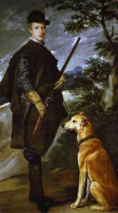 The Cardinal Infante Don Fernando (Philip IV's Younger brother) as a Hunter, Oil by Diego Velazquez (1599-1660, Spain)