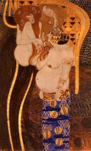 Gustav Klimt - Beethoven frieze(detail)08