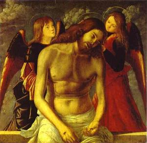 Vittore Carpaccio - The Dead Christ Supported by Angels.