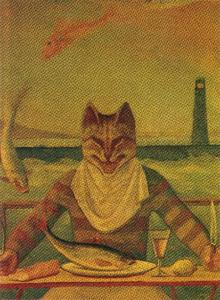 Balthus (Balthasar Klossowski) - The Cat (detail)