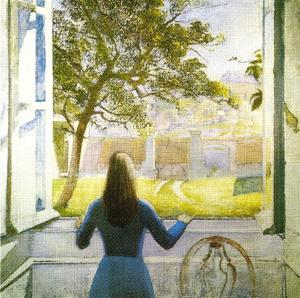 Balthus (Balthasar Klossowski) - Young Girl at the Window