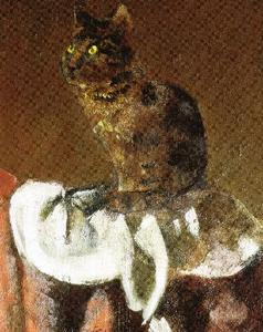 Balthus (Balthasar Klossowski) - The cat in the mirror III (detail)