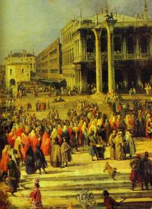 Giovanni Antonio Canal (Canaletto) - The Reception of the French Ambassador in Venice. Detail