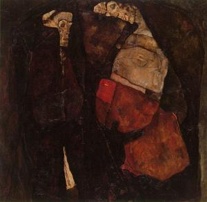 Egon Schiele - pregnant woman and death 1911