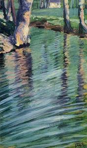 Egon Schiele - Trees Mirrored in a Pond
