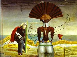 Max Ernst - Woman, Old Man and Flower
