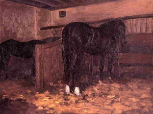 Gustave Caillebotte - Horses in the Stable