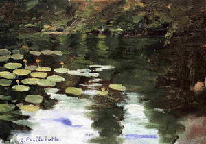 Gustave Caillebotte - Yerres, on the Pond, Wate..