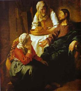 Jan Vermeer - Christ in the House of Mary and Martha