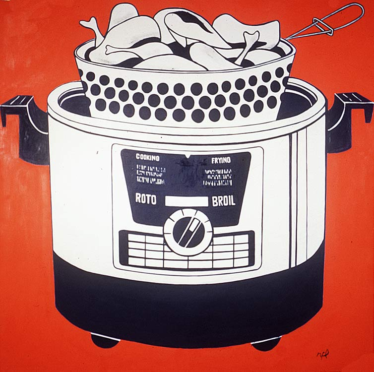 Roto Broil, 1961 by Roy Lichtenstein (1923-1997, United States) | Painting Copy | ArtsDot.com
