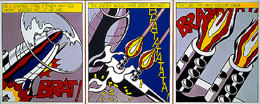 As i opened, 1964 by Roy Lichtenstein (1923-1997, United States) | Painting Copy | ArtsDot.com