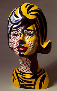 Roy Lichtenstein - Head red shadow