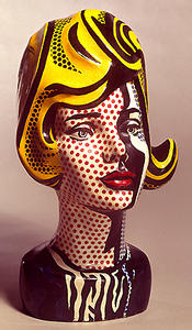 Roy Lichtenstein - Head black shadow