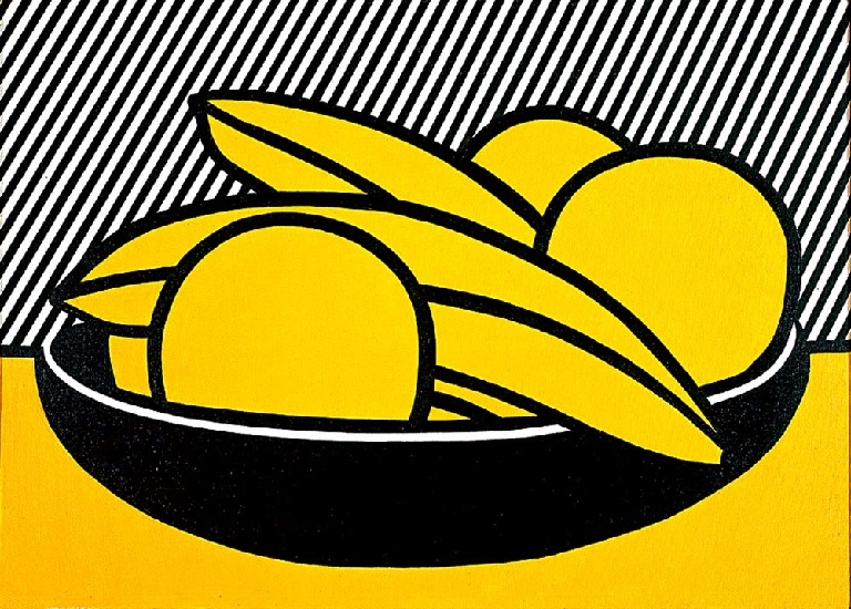 Bananas and Grapefruit, 1972 by Roy Lichtenstein (1923-1997, United States) | Museum Art Reproductions | ArtsDot.com