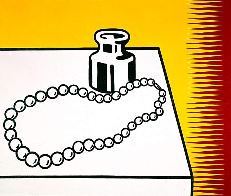Still Life with Pearls, 1973 by Roy Lichtenstein (1923-1997, United States) | Painting Copy | ArtsDot.com
