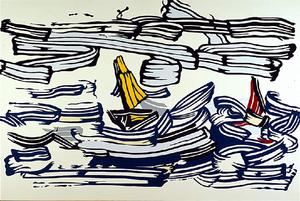 Roy Lichtenstein - Sailboats