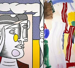 Roy Lichtenstein - Picasso head