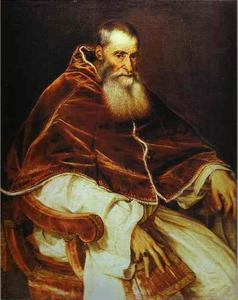 Tiziano Vecellio (Titian) - Portrait of Pope Paul III without a Cap