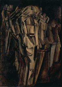 Marcel Duchamp - Sad young man in a train