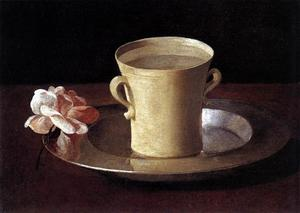 Francisco Zurbaran - A Cup of Water and a Rose