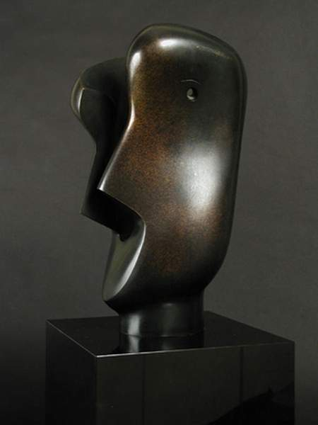 Divided Head, Sculpture by Henry Moore (1898-1986, United Kingdom)