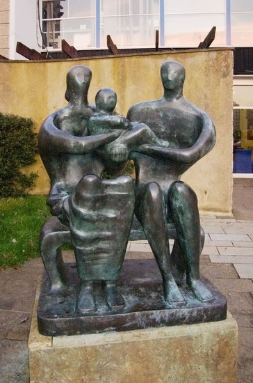 Family Group, Sculpture by Henry Moore (1898-1986, United Kingdom)