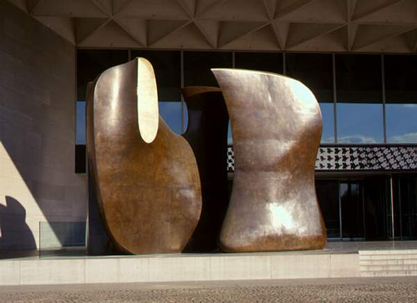 Knife Edge Mirror Two Piece, Sculpture by Henry Moore (1898-1986, United Kingdom)
