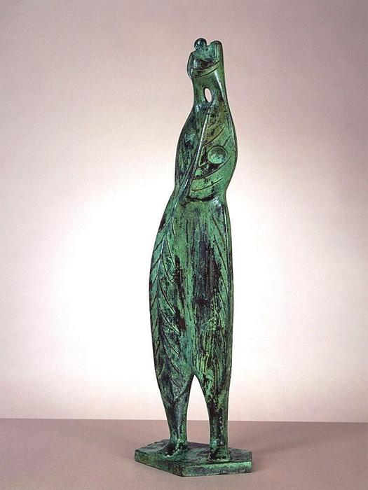 Leaf Figure No. 3 by Henry Moore (1898-1986, United Kingdom) | Painting Copy | ArtsDot.com