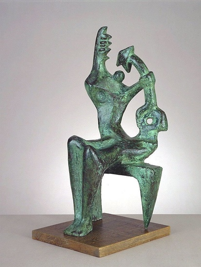 Mother and Child, Sculpture by Henry Moore (1898-1986, United Kingdom)