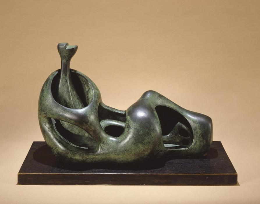 Reclining Figure, Internal and External Forms by Henry Moore (1898-1986, United Kingdom) | Art Reproduction | ArtsDot.com