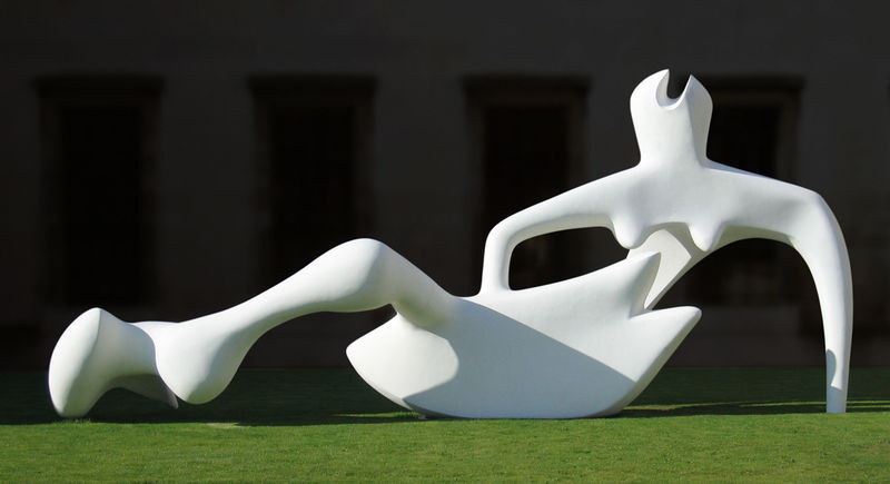 Reclining Figure, Sculpture by Henry Moore (1898-1986, United Kingdom)