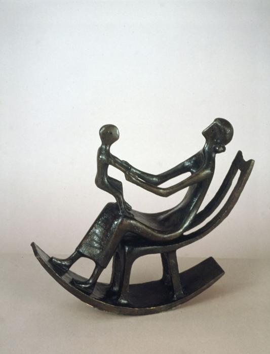 Rocking Chair No. 2, Sculpture by Henry Moore (1898-1986, United Kingdom)