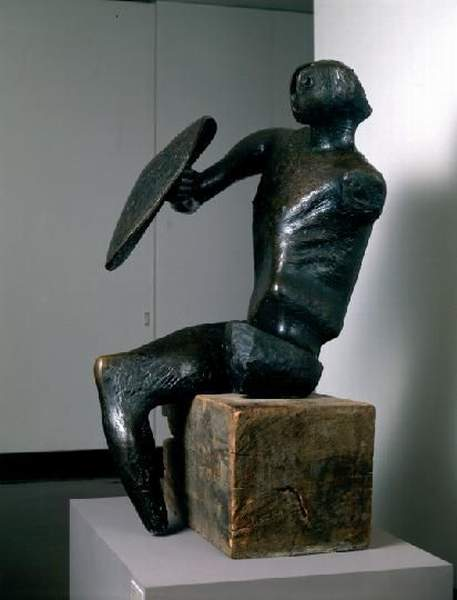 The Warrior, Oil by Henry Moore (1898-1986, United Kingdom)