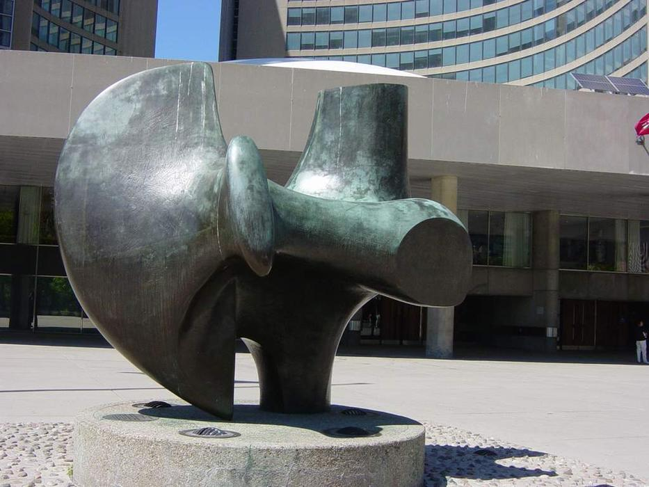 Three Way Piece No. 2 (The Archer) by Henry Moore (1898-1986, United Kingdom) | Oil Painting | ArtsDot.com