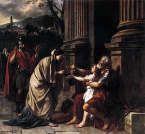 Jacques Louis David - Belisarius Receiving Alms