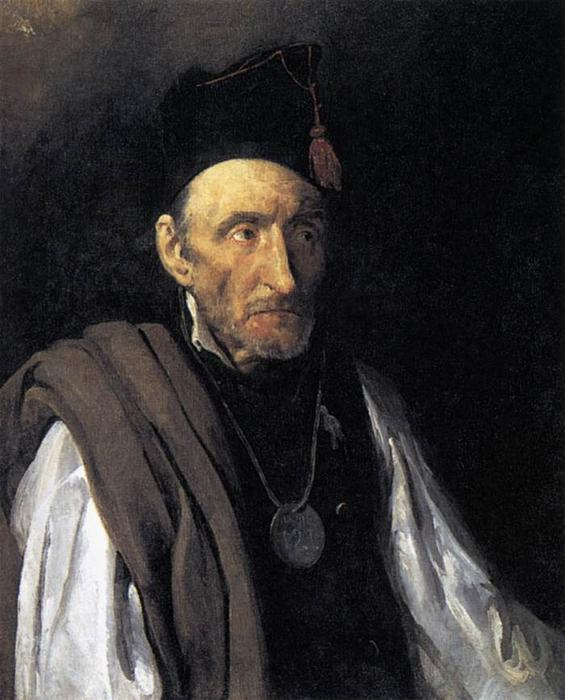 Man with Delusions of Military Command, Oil On Canvas by Jean-Louis André Théodore Géricault (1791-1824, France)