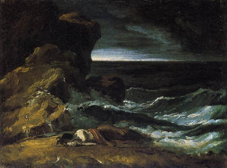The Wreck, 1821 by Jean-Louis André Théodore Géricault (1791-1824, France) | ArtsDot.com