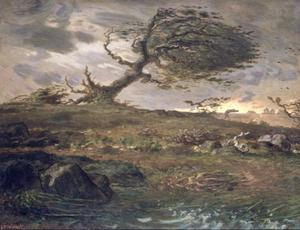 Jean-François Millet - The Gust of Wind
