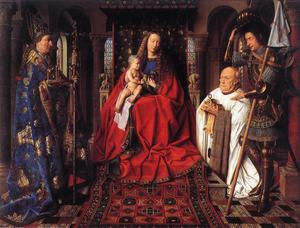 Jan Van Eyck - The Madonna with Canon va..