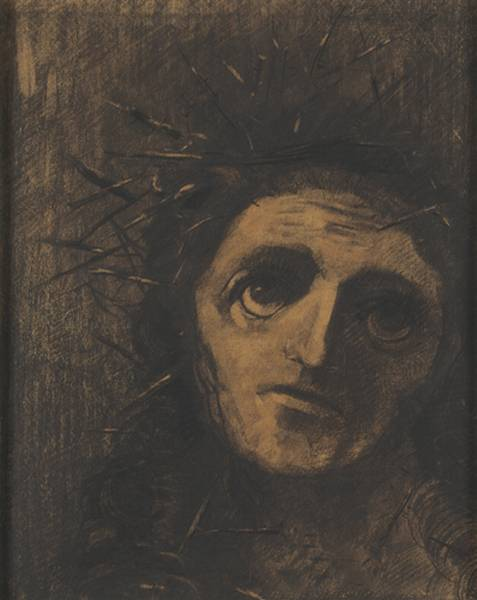 Christ by Odilon Redon (1840-1916, France) | Oil Painting | ArtsDot.com