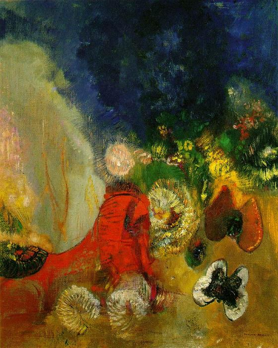 The Red Sphinx by Odilon Redon (1840-1916, France) | Museum Quality Reproductions | ArtsDot.com