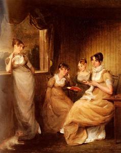John Constable - Ladies From The Family Of Mr William Mason Of Colchester