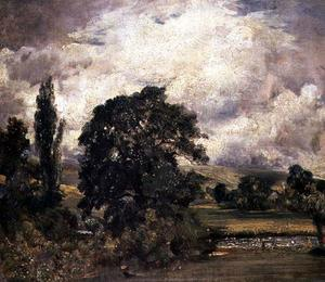 John Constable - Water Meadows near Salisbury
