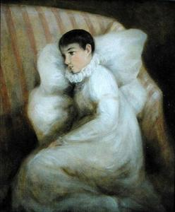John Constable - Young Girl resting on a Sofa