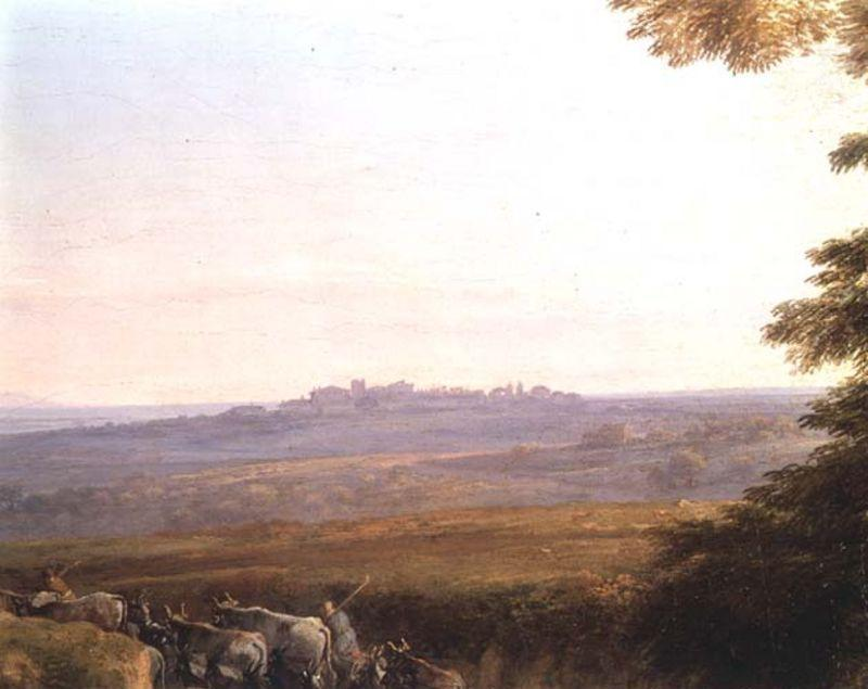 Landscape with Cowherds, Oil by Claude Lorrain (Claude Gellée)