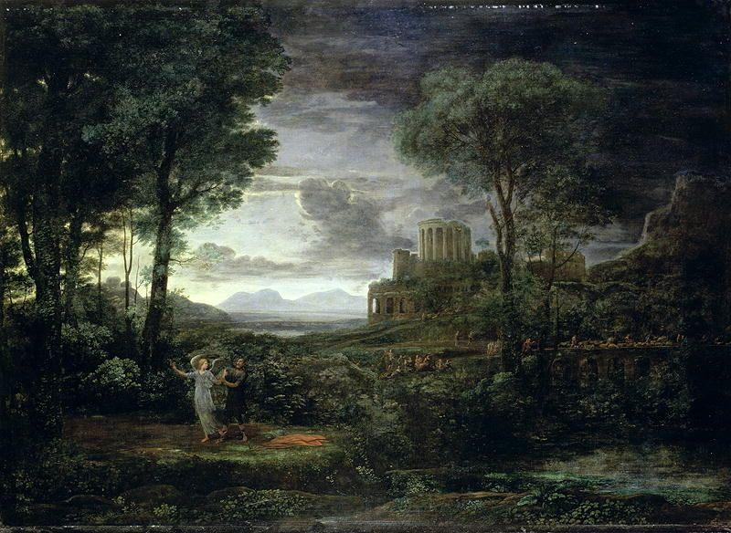 Landscape with Jacob Wrestling with the Angel, or Night by Claude Lorrain (Claude Gellée) | Art Reproduction | ArtsDot.com