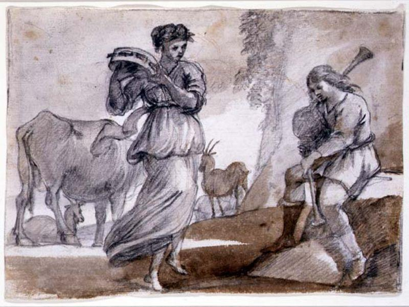 Rural Dance, Oil by Claude Lorrain (Claude Gellée)
